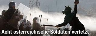 KFOR-Soldaten und Serben geraten aneinander