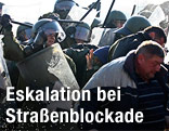 Auseinandersetzungen zwischen KFOR-Soldaten und Serben