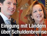 Finanzministerin Maria Fekter und Salzburger LHStv. David Brenner