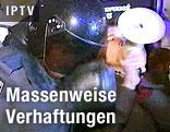 Verhaftung von Demonstrant