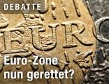 Euro-Münze in Nahaufnahme