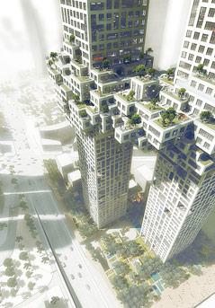 Wolkenkratzer-Projekt in Seoul des niederländischen Architekturbüros MVRDV