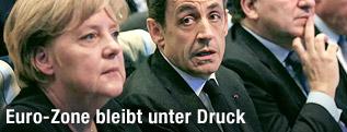 Frankreichs Präsident Nicolas Sarkozy und die deutsche Kanzlerin Angela Merkel