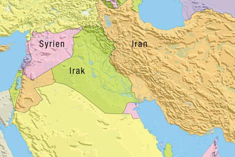 Syrien Irak Karte.Iran Arbeitet An Ausbau Von Machtposition News Orf At