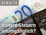 20-Euro-Geldschein in einem Geldbörsel