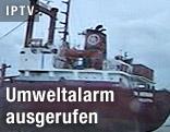 Gestrandeter Frachter TK Bremen