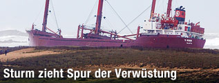 Gestrandetes Cargo-Schiff TK Bremen