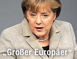 Angela Merkel bei Rede