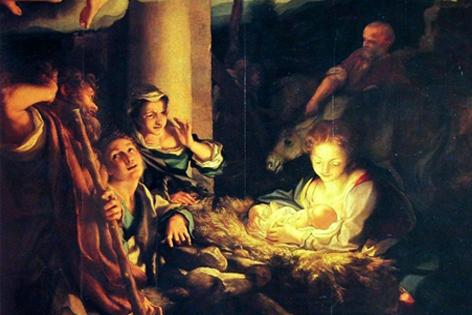 La Notte von Coreggio Hirten beten das Jesuskind an