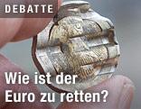 Geschredderte Euro-Münze