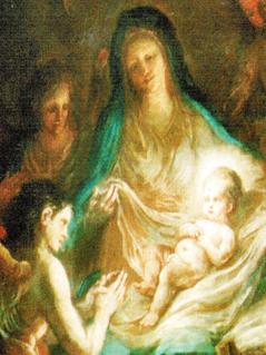 Martin Johann Schmidt Geburt Christi Wechselbild der Pfarre Mauthausen, 1796