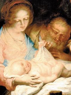Die Hl. Familie  mit zwei Engeln. Um 1750-1758. Michelangelo Unterberger. Graz, Joanneum