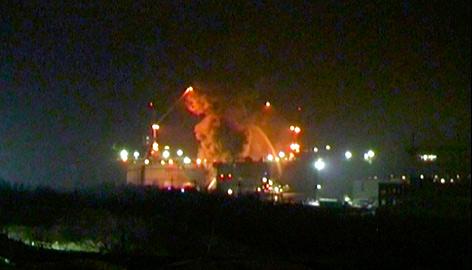 U-Boot in Flammen