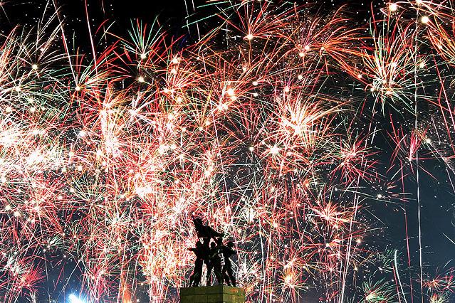 Silvesterfeiern in Jakarta