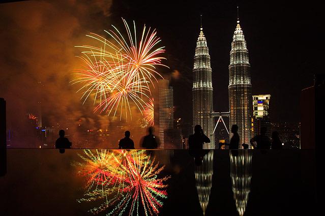 Silvesterfeiern in Kuala Lumpur