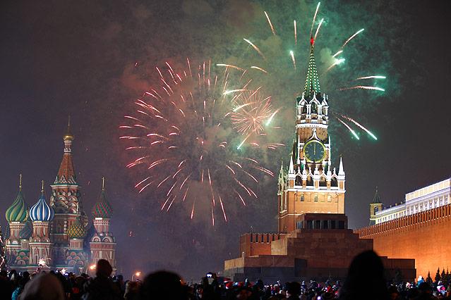 Silvesterfeiern in Moskau