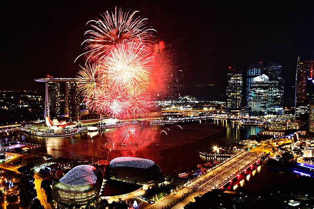 Silvesterfeiern in Singapur