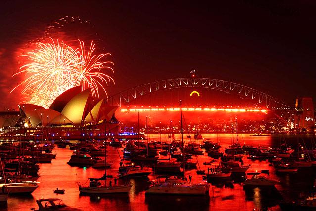 Silvesterfeiern in Sydney