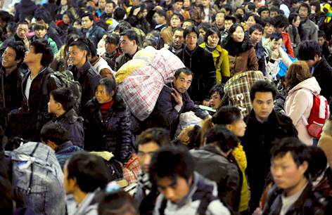 Menschenmasse in China
