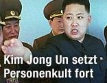 Kim Jong Un mit führenden Militärs