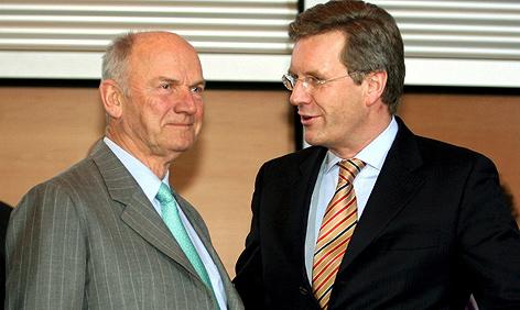 Ferdinand Piech (L) mit Christian Wulff (R)