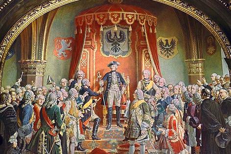 Bild Wilhelm von Camphausen Schlesische Stände huldigen Friedrich dem Großen