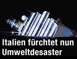 Kreuzfahrtschiff Costa Concordia sinkt