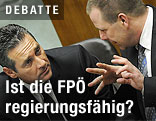 FPÖ-Chef Heinz-Christian Strache und FPÖ-Generalsekretär Harald Vilimsky