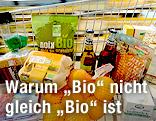 Bio-Lebensmittel im Einkaufswagen