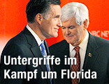 Newt Gingrich und Mitt Romney, Präsidentschaftskandidaten der Republikaner