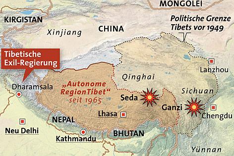 Grafik über die Zusammenstöße in Südchina