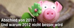 Glücksschwein mit Hufeisen