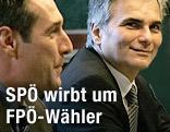 FPÖ-Chef Heinz-Christian Strache und Bundeskanzler Werner Faymann
