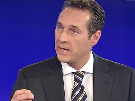 Heinz-Christian Strache in der ZIB