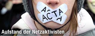 Demonstrant gegen ACTA