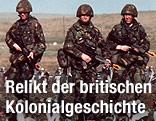 Britische Soldaten auf den Falkland-Inseln