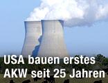 Die Bestehenden Kühltürme des Kernkraftwerks in Vogtle (USA)