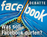 Graffiti mit Facebook-Logo und Zipp