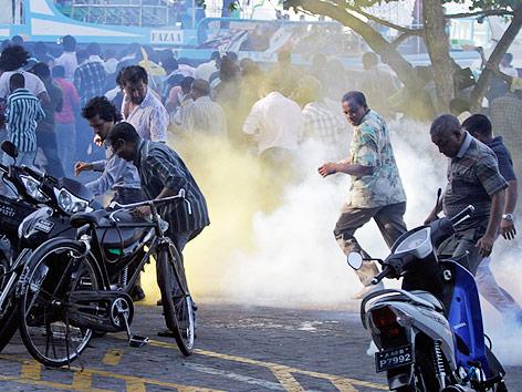 Unruhen in der Hauptstadt der Malediven, Male