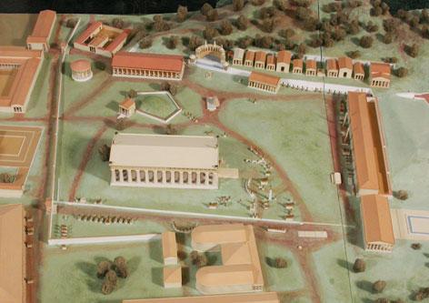 Modell des antiken Olympia