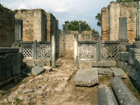 Ruinen des antiken Olympia