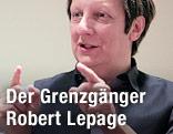 Robert Lepage bei Interview in Metropolitan Opera in New York