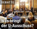 Sitzung des Korruptions-U-Ausschussses im Budgetsaal (Lokal VI) im Parlament in Wien