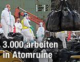 Arbeiter in der Atomruine