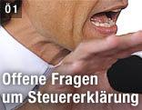 Nahaufnahme des gestikulierenden ehemaligen Finanzministers Karl-Heinz Grasser