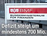 Schild vom Finanzministerium