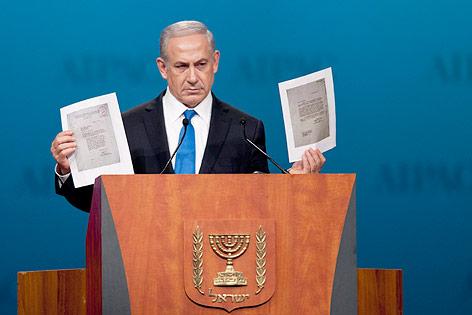 Rede von israelischem Premier Benjamin Netanyahu