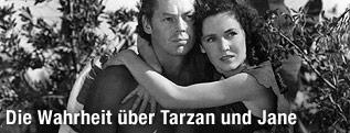 Johnny Weissmüller als Tarzan und Maureen O'Sullivan als Jane