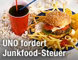 Burger und Softdrink