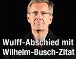 Präsident Christian Wulff beim Zapfenstreich